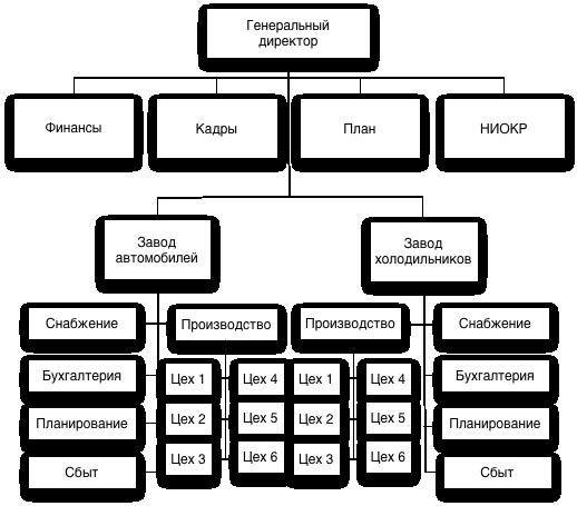 Как видно из рис. 33, дивизиональная схема организации вырастает из департаментизации, в которой за основу берется...